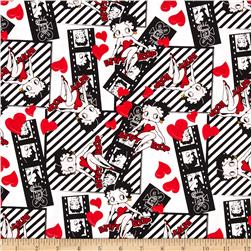 Betty Boop Filmstrips White Fabric