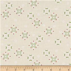 Moda Jingle Birds Snowflake Cream