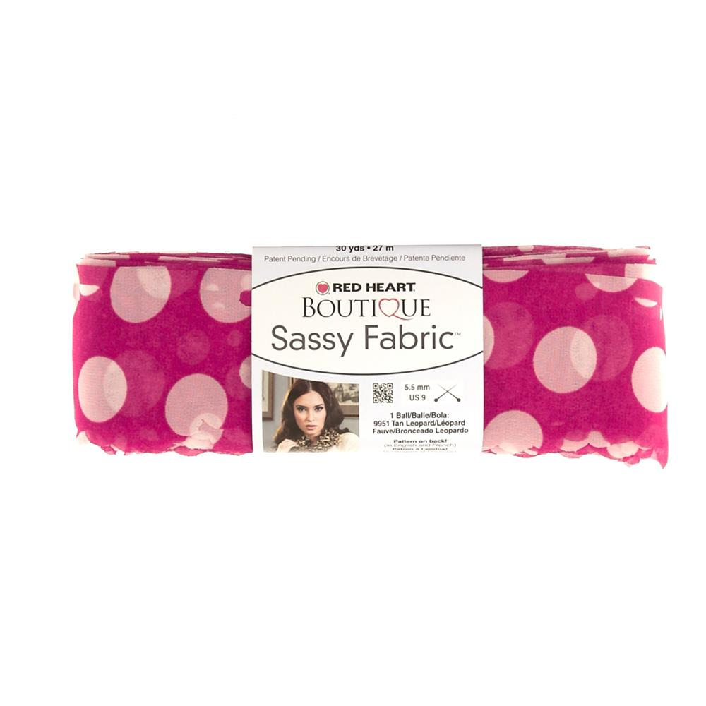 Red Heart Boutique Sassy Fabric Pink Dot