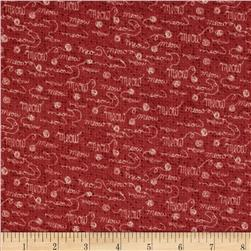 Purrsnickitty Tonal Meow Red Fabric