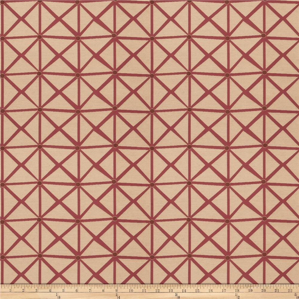 Fabricut Rohu Lattice Jacquard Boysenberry