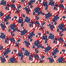 Stars & Stripes II Packed Flags Red/White/Blue Fabric