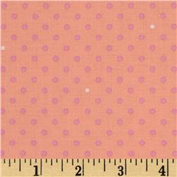 Michael Miller Cynthia Rowley Oh Baby Pin Dot Peach