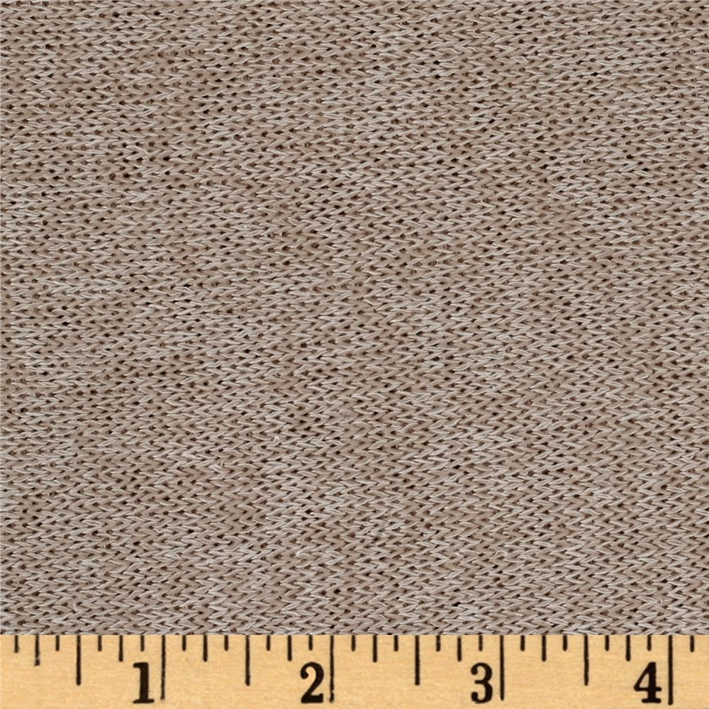 Lightweight Marled Sweater Knit Sand Fabric