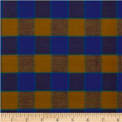 Artisan by Kaffe Fasset Yarn Dyed Wovens Checkerboard Plaid Ikat Blue