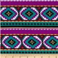 Stretch Jersey Knit Aztec Purple/Teal