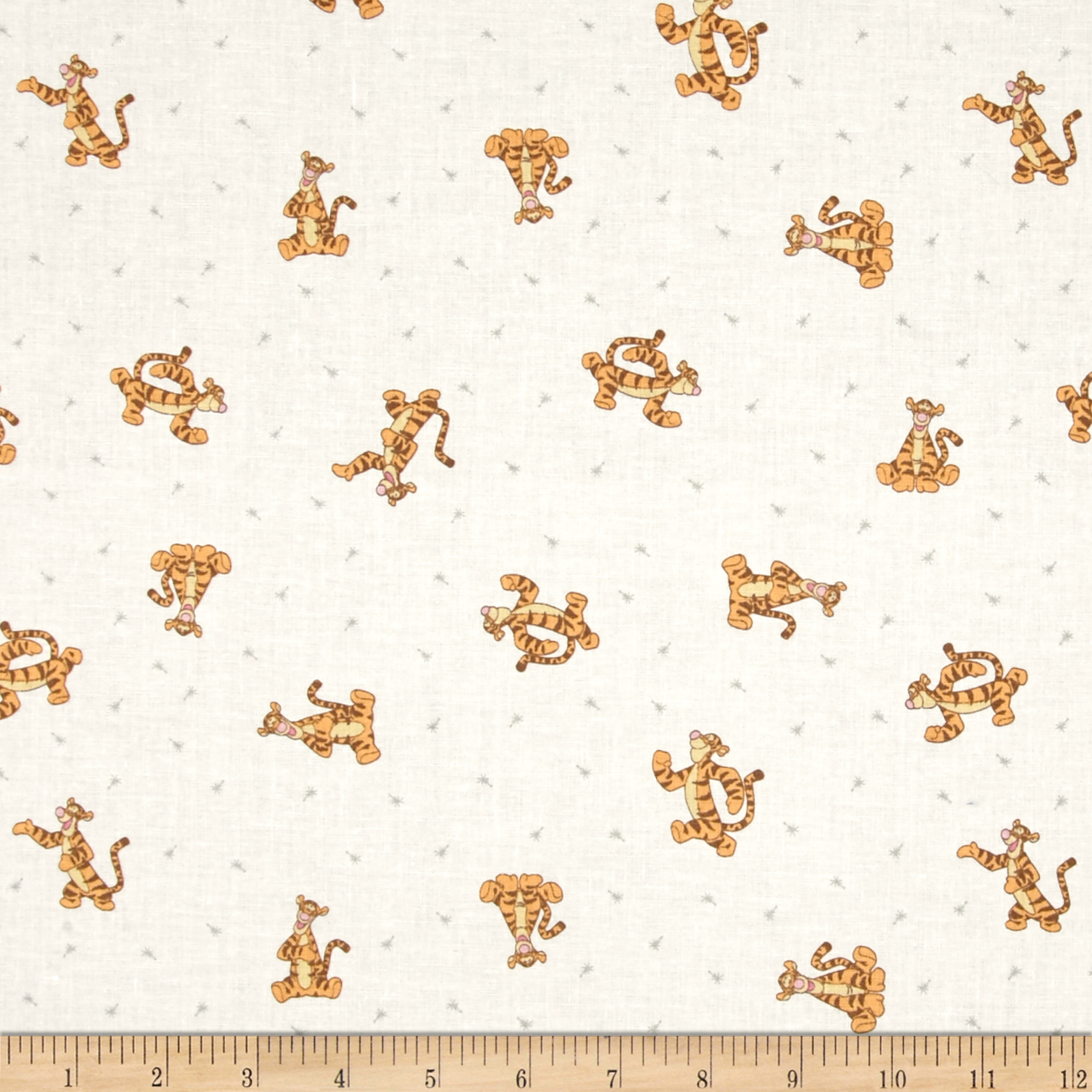 Disney Winnie The Pooh Tigger White Fabric by Eugene in USA