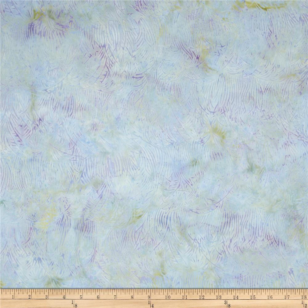 Island Batik Cloud Light Blue/Lilac Needle Leaves
