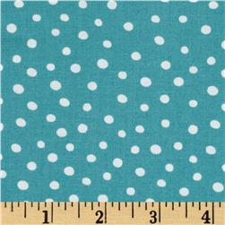 Moda ABC Menagerie Bubble Dots Turquoise