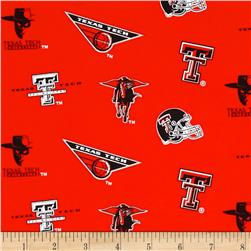 Collegiate Cotton Broadcloth Texas Tech Red