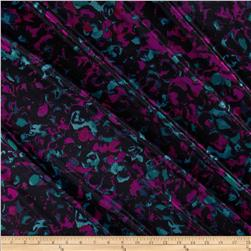 Stretch Silky Single Knit Print Black/Purple