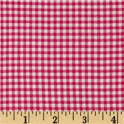 Basic Training Small Gingham Fuchsia/White Fabric