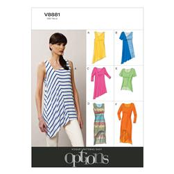 Vogue Misses' Top Pattern V8881 Size 0Y0