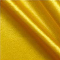 Stretch Charmeuse Satin Yellow Fabric