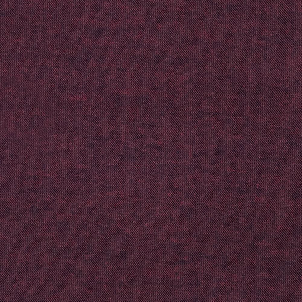 Stretch Rayon Poly Heather Jersey Knit Wine