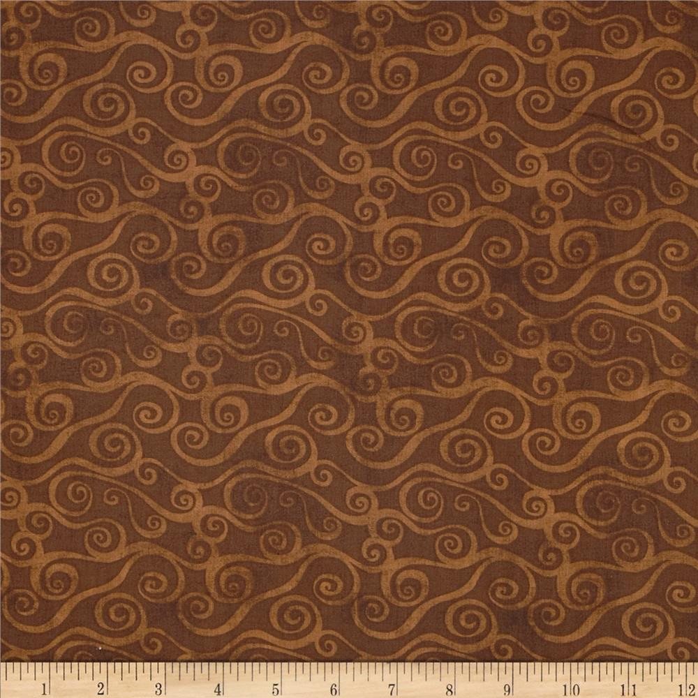 Essentials Swirly Scroll Dark Brown