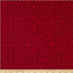 Christmas Pure & Simple Brocade Claret