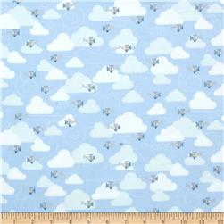 Alpine Flannel American Planes Blue Fabric