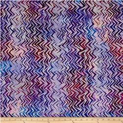 Kaufman Batiks To The Point Diagonal Punch