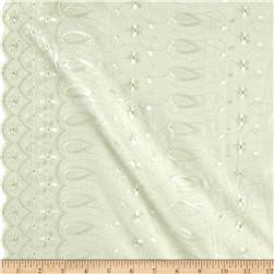 Fancy Allover Eyelet Ivory