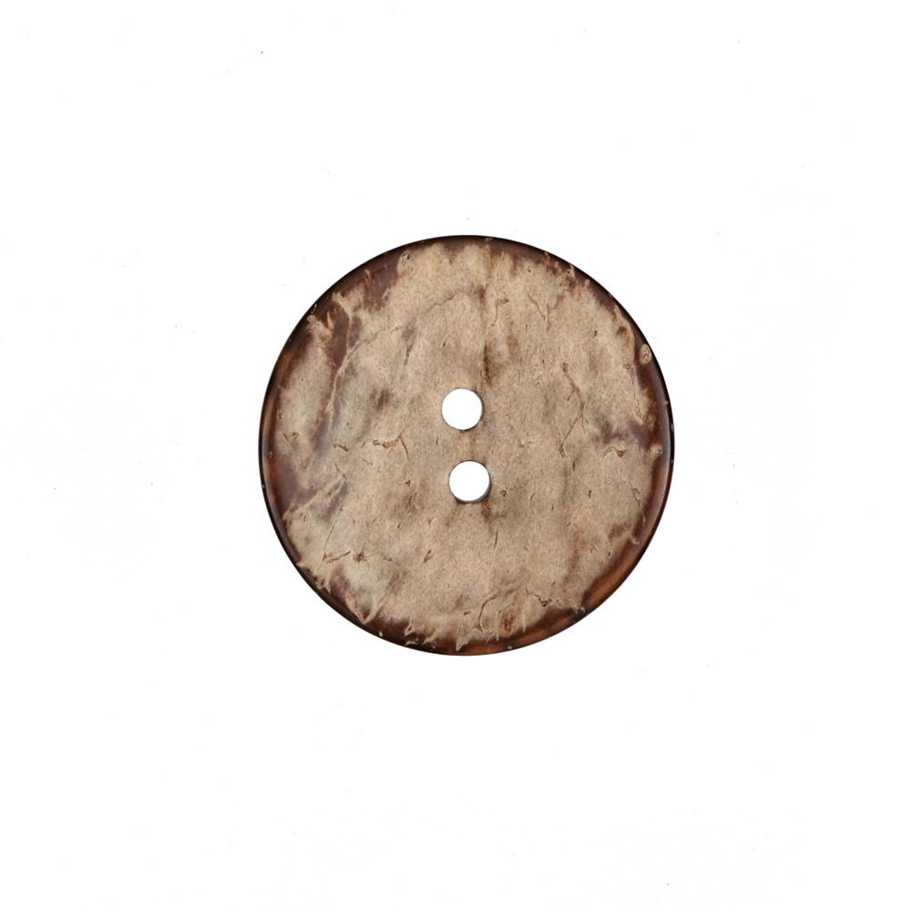Coconut Button 1 1/4'' Natural/Brown