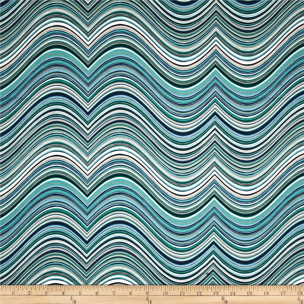 Kaufman Vantage Point Contour Stripe Sea Glass