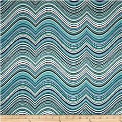 Robert Kaufman Vantage Point Contour Stripe Sea Glass