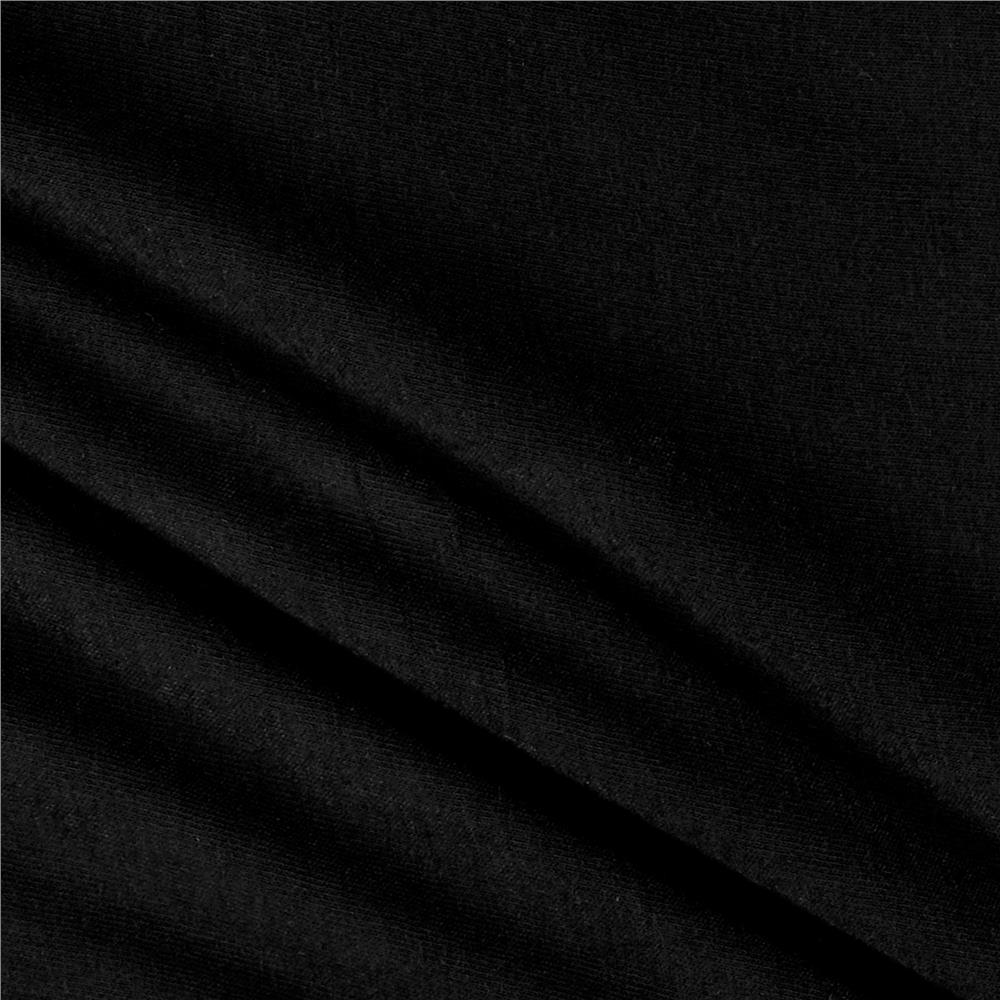 Rayon Spandex Jersey Knit Solid Black