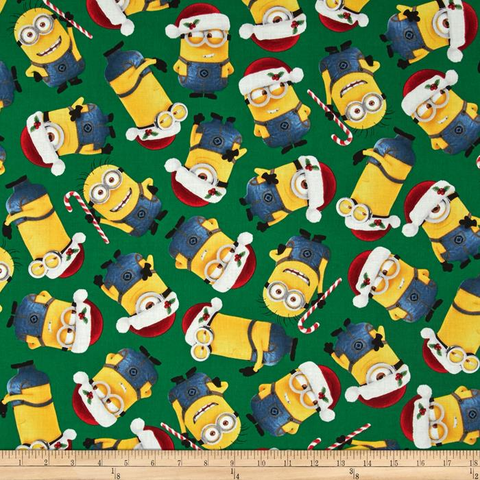 Despicable Me Christmas Minions Tossed Green
