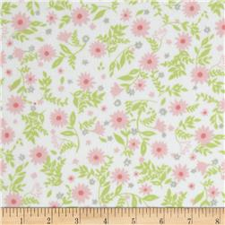 Cozy Cotton Flannel Flowers Pink