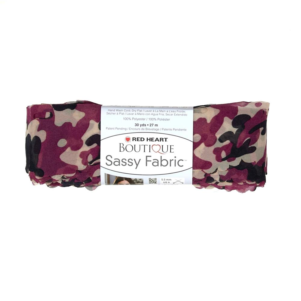 Red Heart Yarn Boutique Sassy Fabric Fuchsia Camo