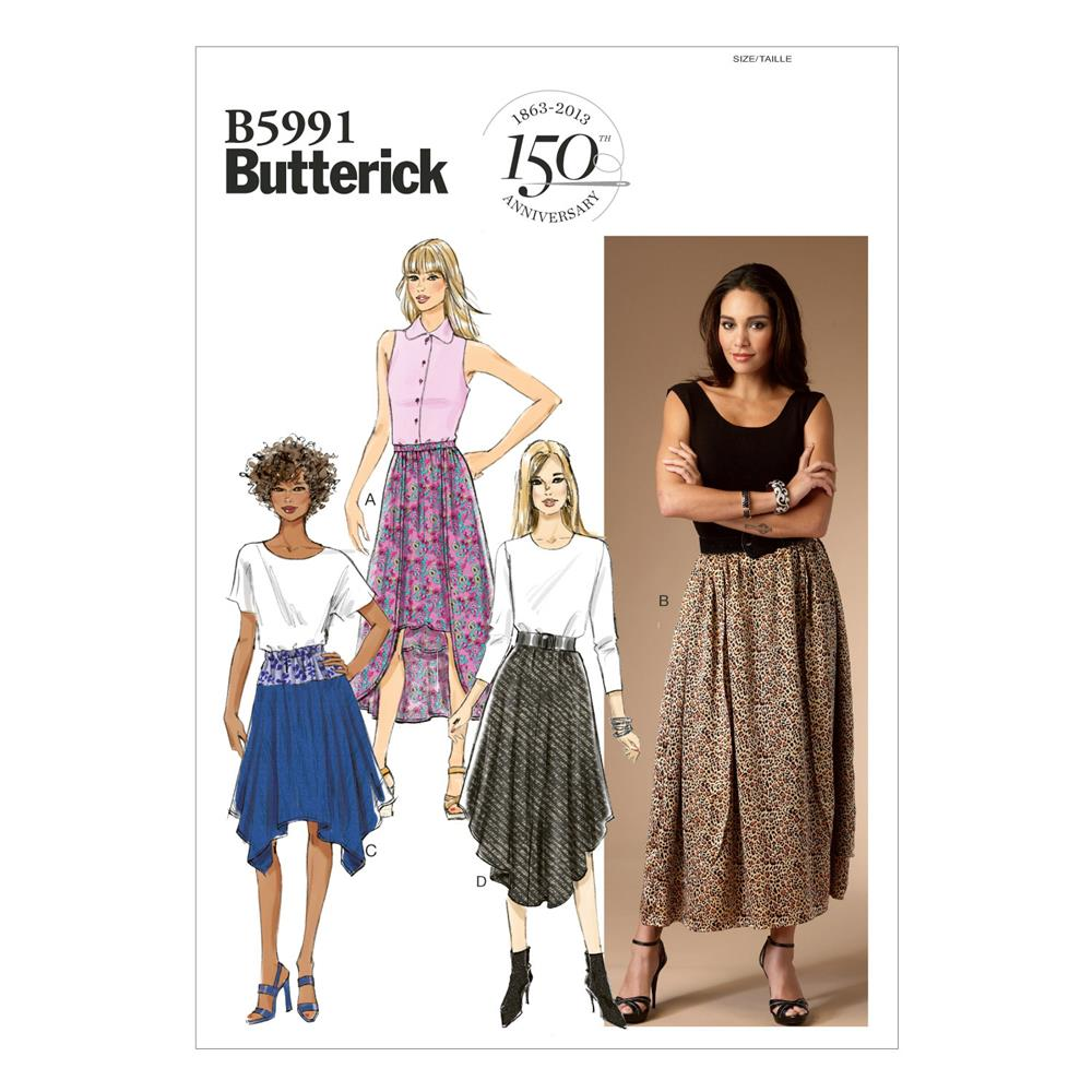 Butterick Misses' Skirt Pattern B5991 Size 0Y0
