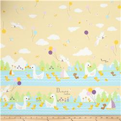 Kokka The Ugly Duckling Yellow Fabric