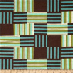 Moda Comtempo Patchwork Stripes Seaglass