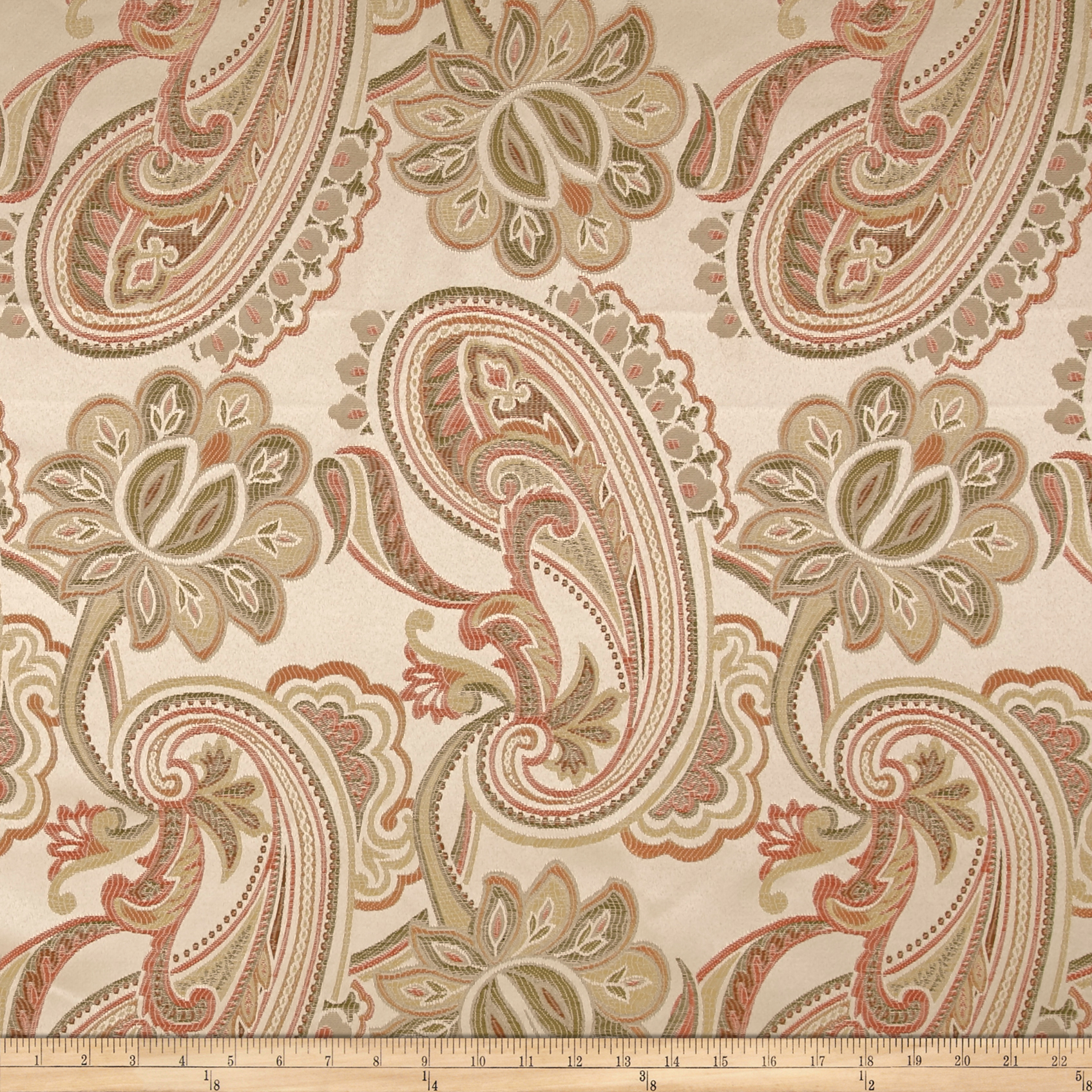 Eroica Dahlia Jacquard Coral Fabric by Eroica in USA