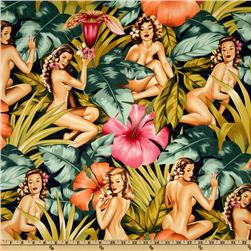 Pin Ups Mirage Navy Fabric