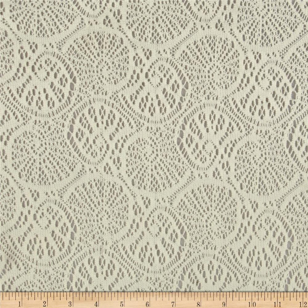 Stretch Crochet Lace Ivory