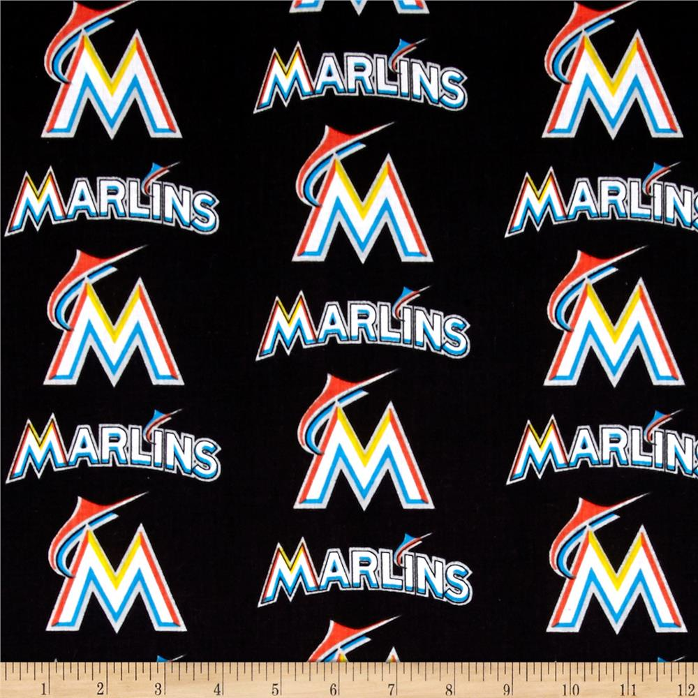 Maimi Marlins Cotton Broadcloth Multi
