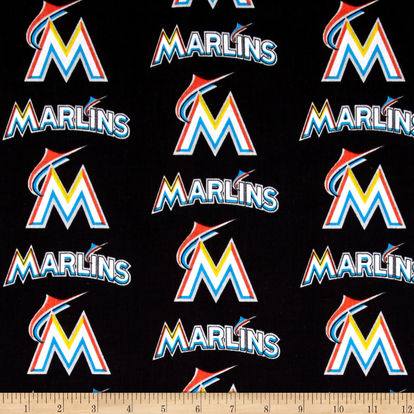Maimi Marlins Cotton Broadcloth Multi Fabric by Fabric Traditions in USA