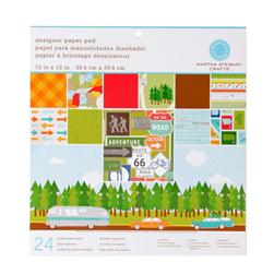 "Martha Stewart Crafts Designer Paper Pad 12"" X 12"" Travel"