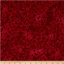 Climbing Vine 108'' Wide Back Red Fabric