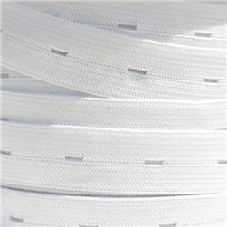 3/4'' Buttonhole Elastic BY THE YARD White