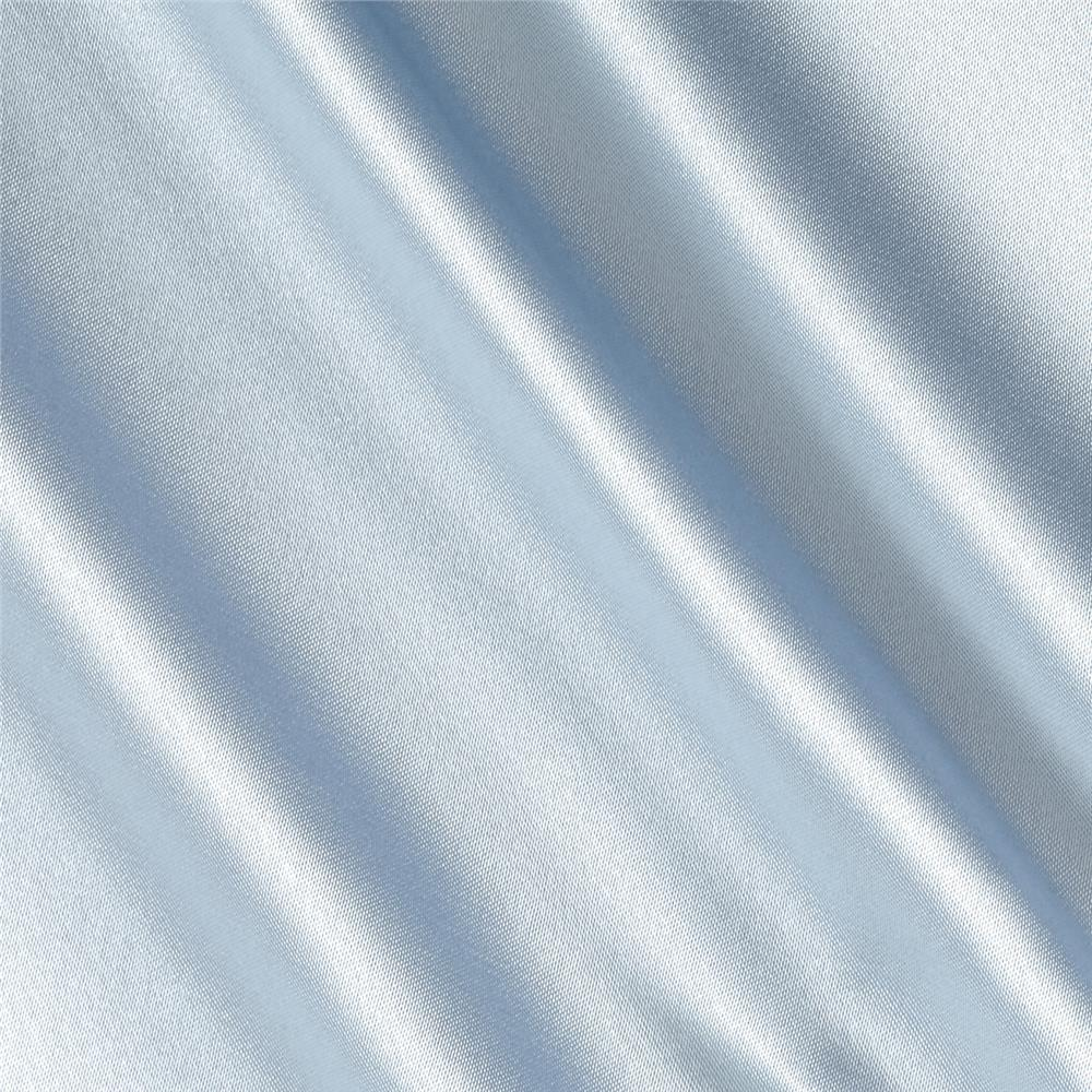 Silky Satin Charmeuse Solid Light blue Fabric By The Yard