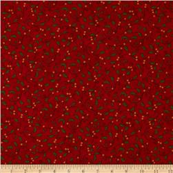 Moda Christmas Countdown Holly & Berries Berry Red