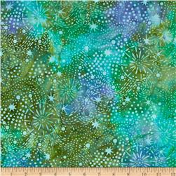 Batavian Batiks Starry Night Dusty Teal