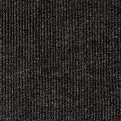 Cotton Blend Rib Knit Charcoal
