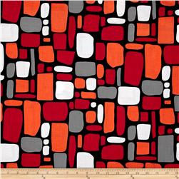 Poppy Modern Abstract Rectangles Black Multi