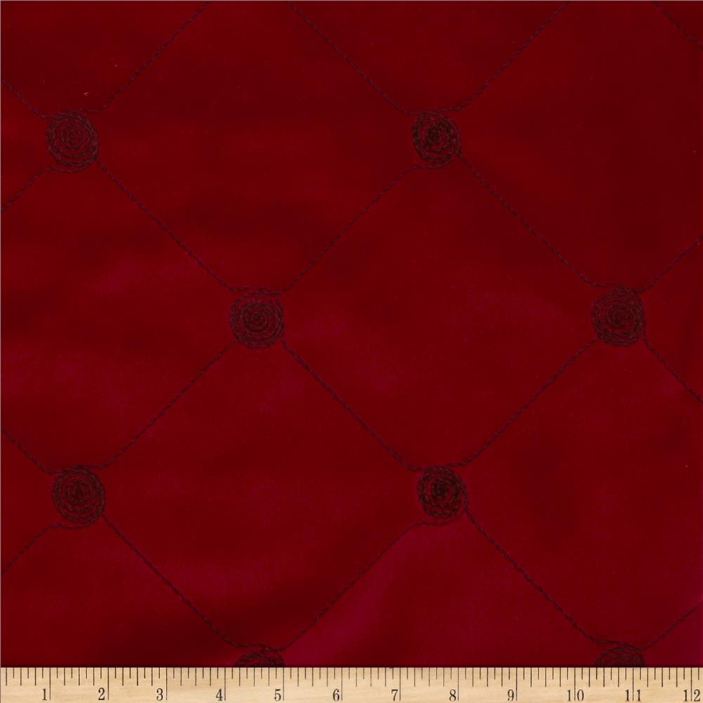 Robert Allen Promo Embroidered Modern Diamond Upholstery Velvet