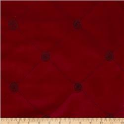 Robert Allen Promo Embroidered Modern Diamond Upholstery Velvet Pomegranate