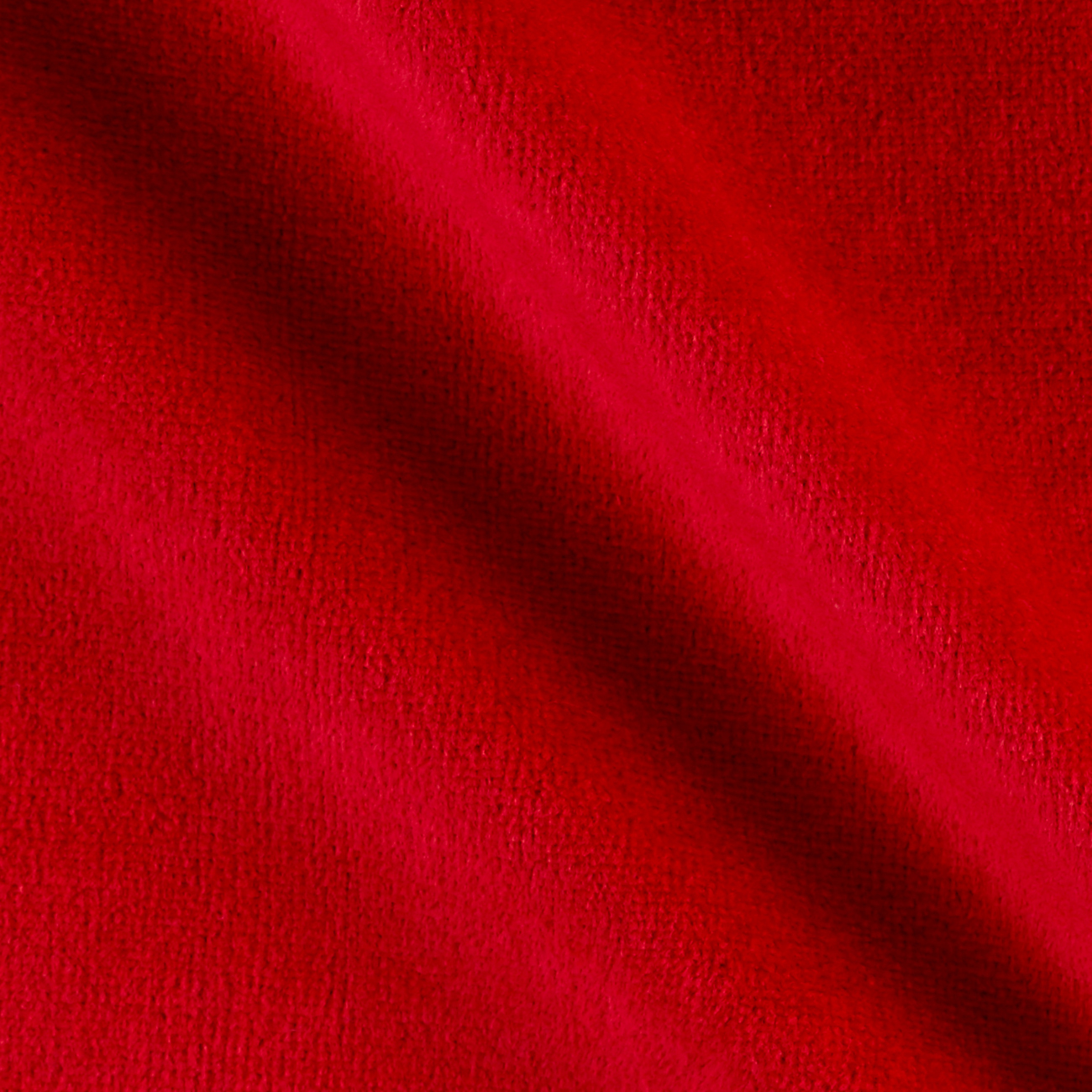 Solid Velour Red MX Fabric by Mike Cannety in USA